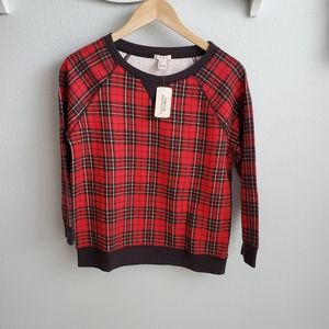 Forever 21 red plaid sweatshirt S